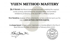 Yuen Methode Certificaat